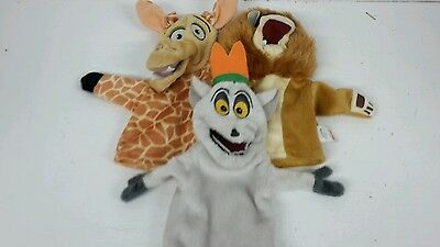 3 X Persil Madagascar 2 , Glove Puppets,