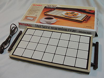 VTG Rival Hot Serv Warming Tray Model 606 w/ Box