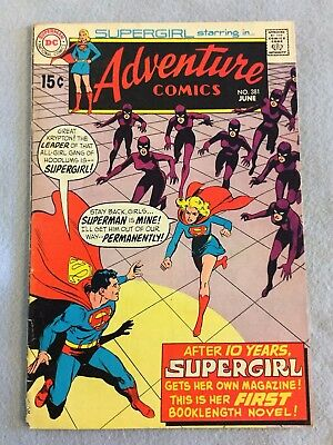Adventure Comics #381 (Jun 1969, DC) - Key Issue - 1st solo Supergirl