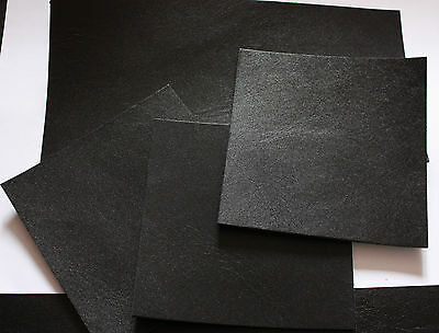 "Black leather hide remnants offcuts repair 4""x12"" various sizes 2.5mm thick"