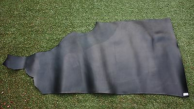 140 x 80 cm BLACK VEGETABLE TANNED LEATHER HIDE 1/2 SIDE COWHIDE 2.5mm thick