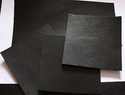 BLACK LEATHER REMNANTS TOOLING COW HIDE 10x10 cm various sizes 2.5mm thick