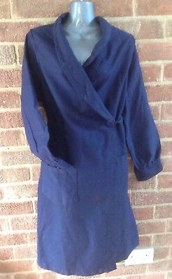vintage 1950s GENUINE navy blue COTTON WW2 Home Front  CHAR overall CHores