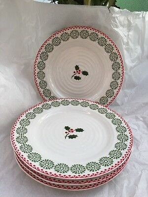 Sophie Conran For Portmeirion Christmas Side Plate D x 4 - New/Unused