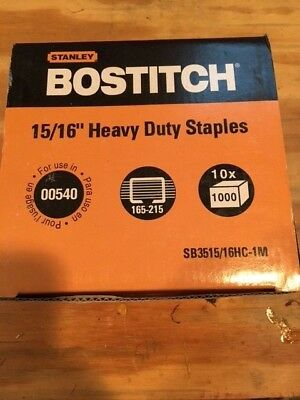 """Bostitch 15/16"""" Heavy Duty Staples. 10 boxes of 1000-10,000 total"""