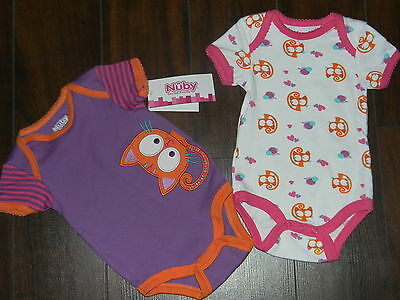 NWT Nice girl cami, 2 pcs, one purple / second white both with cat 6-9 m