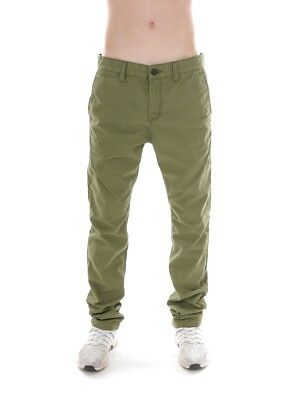 O` Neill Pantaloni Chino Pantaloni Casual Friday Night Verde Vintage Casual Chic