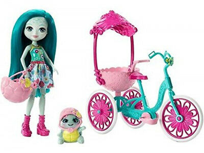 Enchantimals FCC65 Built for Two Doll with Trike Bike Fashion Accessories Set 4+