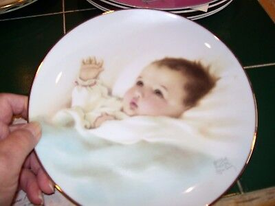 Hamilton Collection Awakening Plate By Bessie Pease Gutmann With Certificate