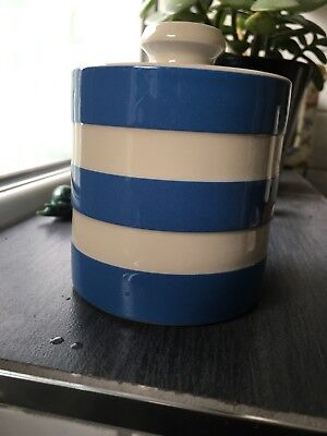 TG Green Cornishware Blue & White Jam Pot