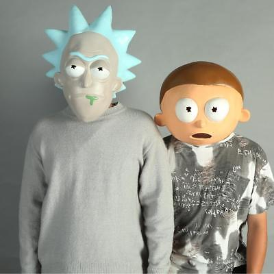 Rick and Morty Cosplay Adult Latex Masks Full Head Face Party Mask Halloween
