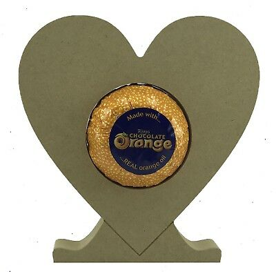 Heart -   Pack of 5 -18mm MDF Chocolate Orange Holder Freestanding