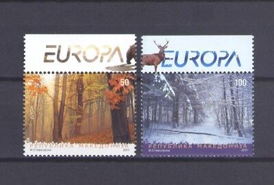 MACEDONIA, EUROPA CEPT 2011, FORESTS with TOP MARGIN, MNH