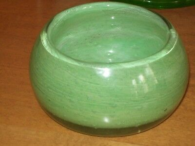 Monart Vasart Strathearn Green Glass bowl  Scottish cased glass