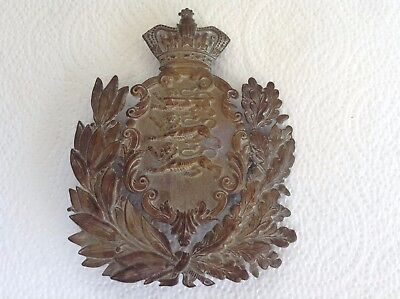 Late 19th Century Duke of Lancasters Own Yeomanry Brass Helmet Plate Q C