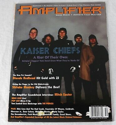 Amplifier Indie Rock Magazine April 2007 Kaiser Chiefs Nick Cave Decemberists NW