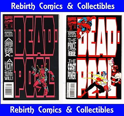 Deadpool: The Circle Chase #1 & #2 Mini (Aug '93 Marvel) NM 1st App Slayback