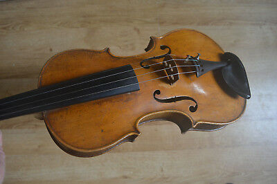 """Antique Violin, nicely flamed two piece back, inlaid purfling, 14,1/16"""" back"""