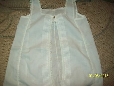 Vintage Little Girl's White Lace Handmade Slip-HTF