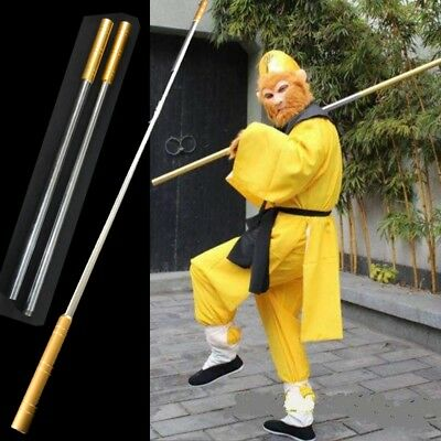 "L 64"" Wushu Martial arts stick Monkey King Golden cudgel igh quality steel #0096"