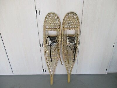 "vintage No.200 10"" X 46"" Snow Shoes & Bindings"