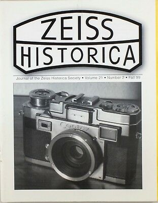Zeiss Historica Fall 1999 (Magazine Zeiss Historical Society)