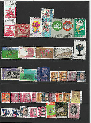 China/ Hong Kong Lot (Includes Some High Value Stamps)