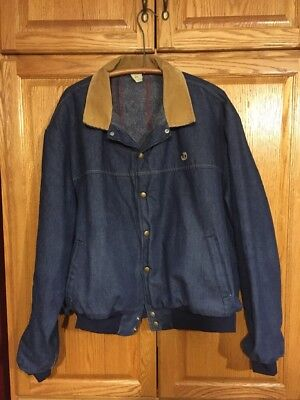 Vintage John Deere Lined Denim Coat XXL