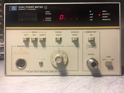 HP 436A Single-Channel 100 kHz to 110 GHz RF Power Meter, *no* RF Power Sensor