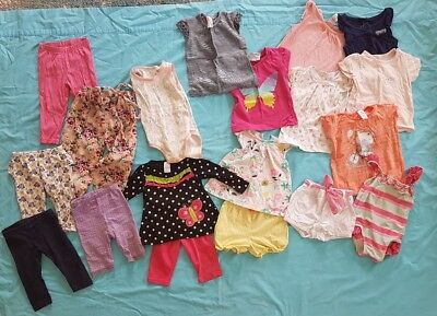 Baby / toddler girl size 1 bundle shorts, pants, shorts, sets, swimmers 19 items