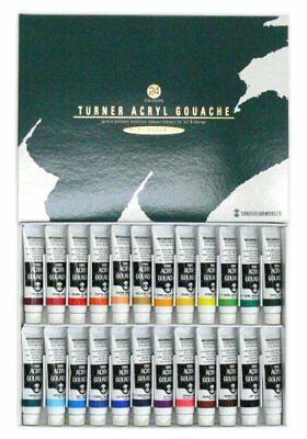 Turner acrylic gouache 24 colors set school (japan import) Japan new.