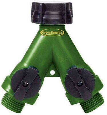 Green Thumb 2 Way, Faucet to Hose Full Flow Poly Manifold AY2FFGT