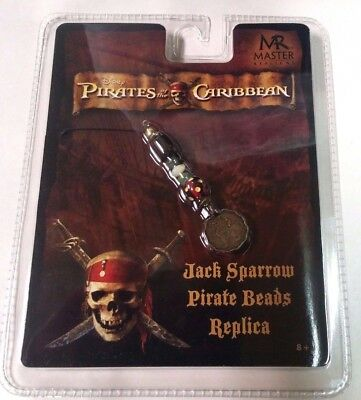 Master Replicas Disney 2007 Jack Sparrow Pirate Beads NEW