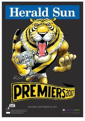 2017 Richmond Tigers Knight Premium Limited Edition Black Poster