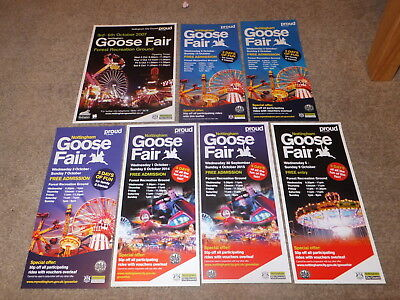Nottingham Goose Fair Flyers 2007 2010 2011 2012 2014 2015 2016 THE FOREST Exc.