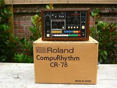 ✯MUSEUM CONDITION!✯BOXED!✯1978 ROLAND CR-78 ANALOG Drum Machine ✯100%✯INCREDIBLE