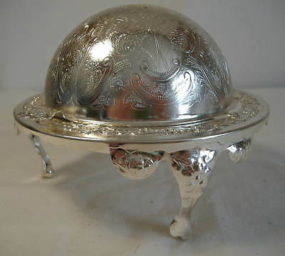 Silver Plated Rolltop Butter Or Caviar Dish
