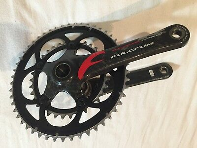 FULCRUM RACING TORQ R COMPACT CRANKSET CRANKS 50 34 Campagnolo Carbon Bsa 175mm