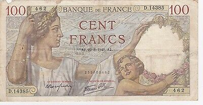 100 Francs  Sully -  Type 1939.