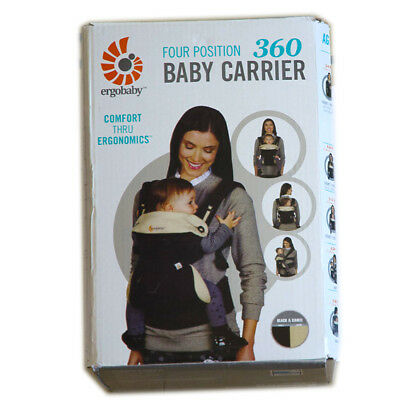 NEW in BOX! ERGOBABY 360 All Position ERGO BABY CARRIER / BLACK CAMEL