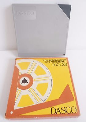 Vintage Dasco Super 8 Automatic Projection Reel & Container/case 200Ft S8/movie