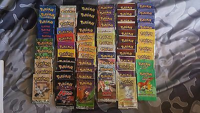 Pokemon card empty booster packs base set- black and white