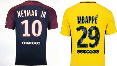 PSG(Paris Saint-Germain),10NEYMAR JR, and MBAPPÉ, jersey, Maillot, size S,M,L,XL