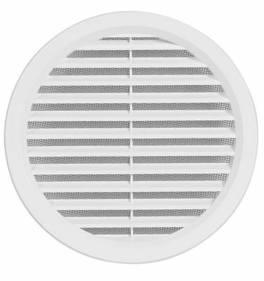 Circular Air Vent Grille Covers High Quality ASA Plastic BROWN & WHITE ALL SIZES