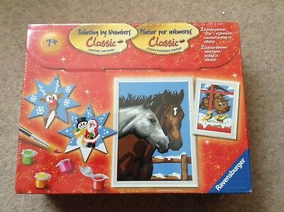 Ravensburger Paint By Numbers, Xmas, Horses, Sealed, Kids