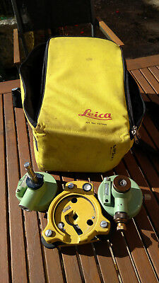 Topcon Tribrach , Adaptors and padded Bag  for Leica for parts or repair