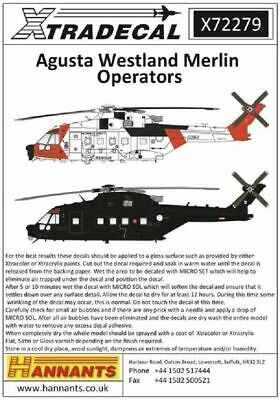 Xtradecal X72279 1/72 Agusta Westland Merlin Operators Model Decals