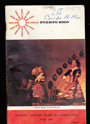 Que Pasa in Puerto Rico (Visitors Guide) July 1968 booklet Flamenco Dancers
