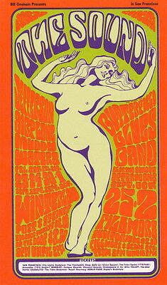 MINT Muddy Waters Jefferson Airplane 1966 THE SOUND BG 29 Fillmore Card