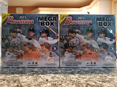 (2) 2017 Bowman Baseball FACTORY SEALED MEGA BOX LOT - Judge Otani Bellinger